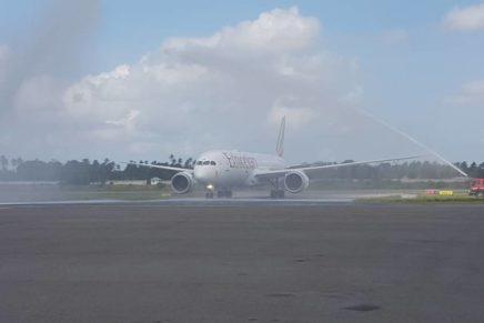 Africa's first Ethiopian B787-9 lands at spice island Zanzibar